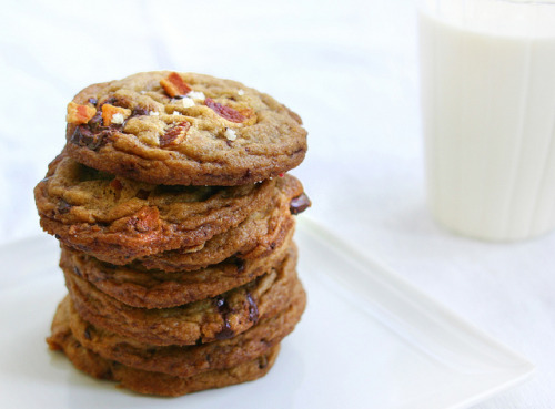 Salty, Sweet, and Spicy Chocolate Chip Cookies  |  Baked in Black