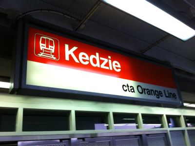 Heading towards the ninth station from Kedzie.