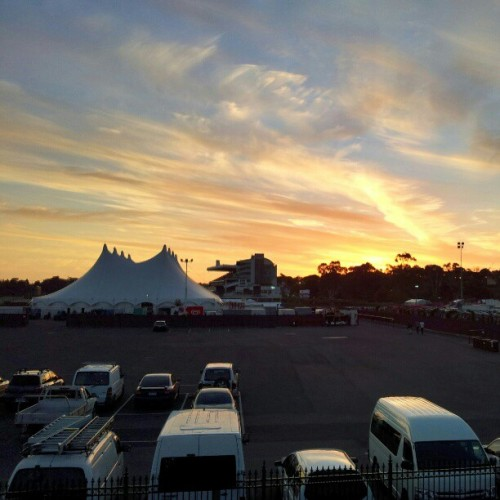 Sunset over the Future Music Festival #fmf2012 #fmf12melb #future #Melbourne #sunset #gs2ography ;)  (Taken with instagram)