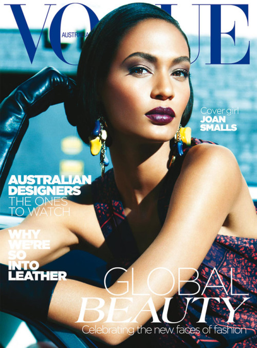 vogueaustralia:  The May issue of Vogue Australia is on sale today with Joan Smalls on the cover. Image by Kai Z Feng