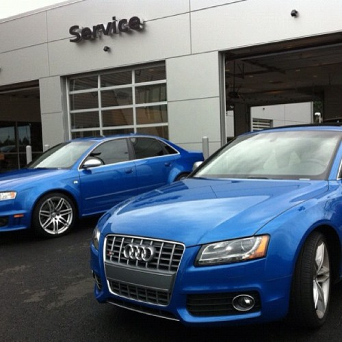 Blue by you #Audi #S5 & #RS4 (Taken with instagram)