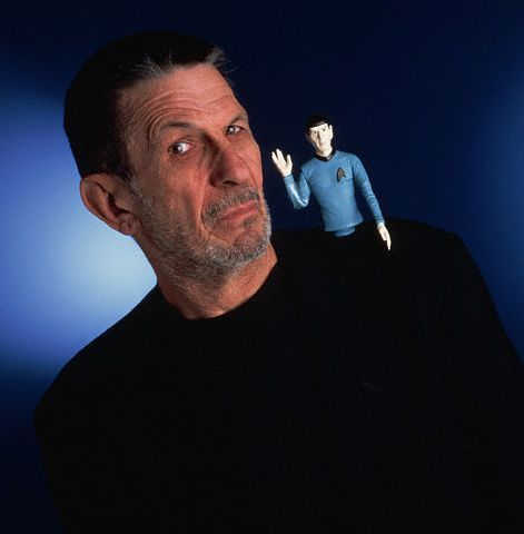 actorswithactionfigures:  LLAP!  (via suggestions from the interweb, photo (c) Matthew Mendelsohn / Corbis)  And we're back!  #LeonardNimoy #StarTrek #LiveLongAndProsper