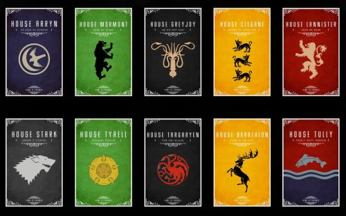 20 GAME OF THRONES HOUSE POSTERS