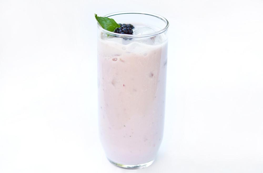 Today I made this Blackberry-Banana Smoothie!