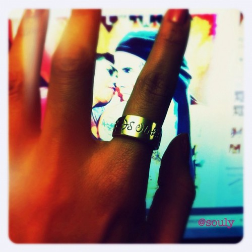 Thank You to my bestie Carol!  I adore u!  This #ring is #fabulous! #gift #IDring #silver #personalized #iphoneonly #iphoneography #toycamera #cameraplus (Taken with instagram)