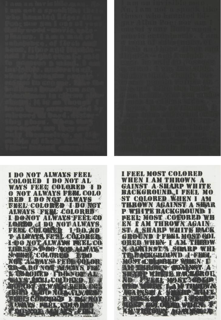Glenn Ligon - Untitled, Four Etchings, 1992