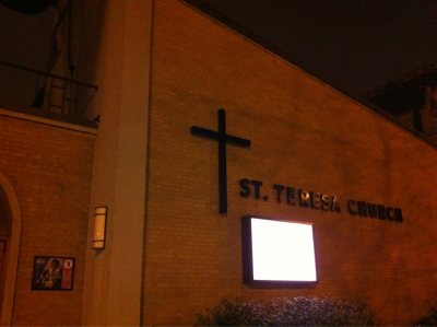 The tenth station at St. Teresa in Lincoln Park: Jesus Is Laid in the Tomb