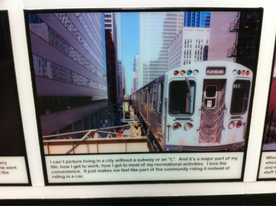 from a little photo exhibit at the Armitage stop
