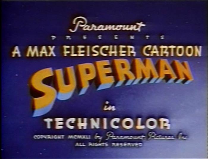 Fleischer Superman Title Card; 1940's