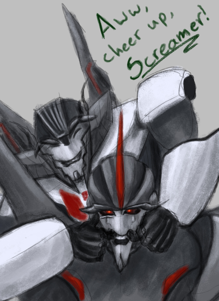 Aww, does Starscream need a hug?
