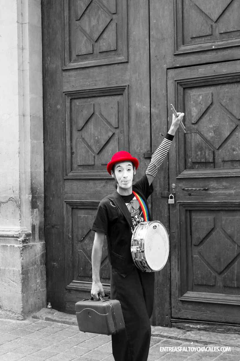 Happy mime in Guanajuato, Mexico