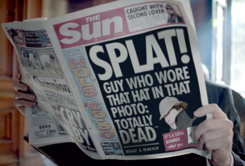 nicotinebatch:  chrismelonibenedictlover:  barachiki:   The Sun really knew how to capture a tragedy.   It's a total bummer. - other guy omg, john.  what a wanker