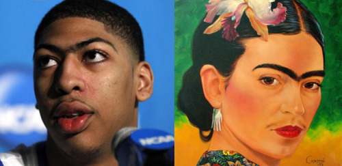 Anthony Davis vs. Frida Kahlo (Submitted by nbadoppelgangers)