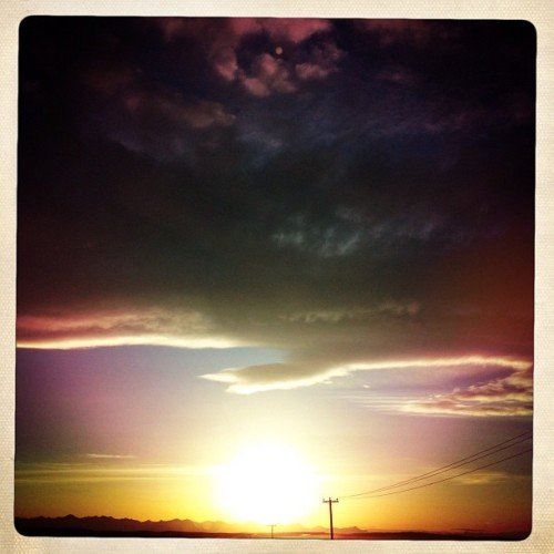arnelltf:  #sunset #landscape #clouds #instamood #sun #instagood #abstract #instacool #instagram (Taken with instagram)