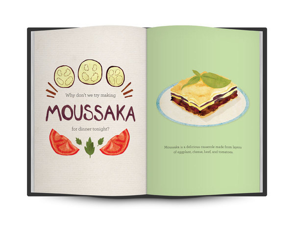 """Foodie parents, this is for you.""  Illustrated ABC food book by Lauren Hom"