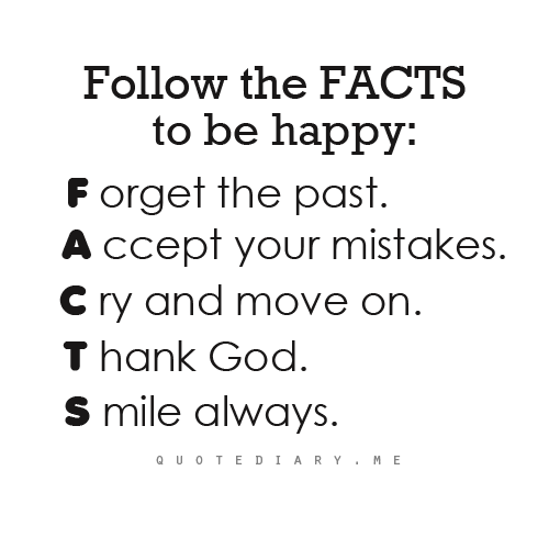 quotediaryofficial:  FACTS to be Happy!