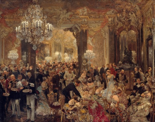 Adolph Menzel - The Dinner at the Ball [1878]