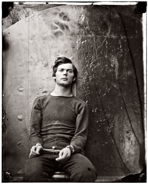 fuckyeahhistorycrushes:  Lewis Payne (April 22, 1844 – July 7, 1865) was one of the co-conspirators executed for his role in the assassination of President Abraham Lincoln and for his attempt of the life of Secretary of State William Seward.  Payne injured Seward in a knife attack but failed to kill him.  He was later captured by Union troops when he attempted to rejoin his co-conspirators at a Washington DC boardinghouse.  After a military tribunal found him guilty of conspiracy and attempted murder, he was executed by hanging along with three of his co-conspirators at the Washington Navy Yard on July 7, 1865.  Despite being an attempted murderer, he had amazing bone structure and was really very handsome!