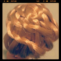 my Blythe hair braid (Taken with instagram)