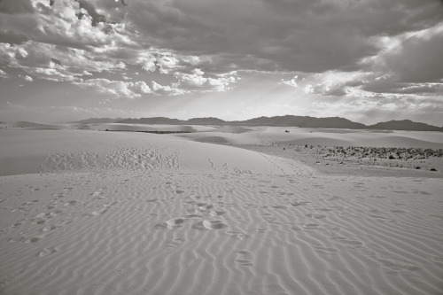 ROAD TRIP image no. 342 Alkali Flat Trail, White Sands, NM June 27th, 2011 Mark Peter Drolet + click through to see larger