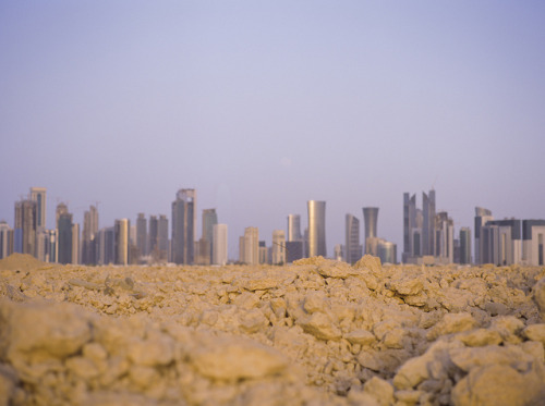 hiromitsu:  Medium Moonrise Over Doha by Doha Sam on Flickr.
