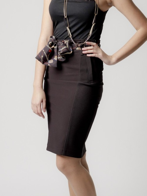 Sleek Pencil Skirt (19-6607)  Features body-hugging waistband and darting from hips to knees. Comes with belt.  Tags: Singapore Fashion Online Shopping, Singapore Fashion Week, Online Shopping Singapore, Singapore Women's Fashion, Dresses, Women's Tops, Women's Jewelry, Women's Shoes, Moyoasia.com, Moyo Asia, Moyo, blogshop, Singapore best blogshop, moyo blogshop