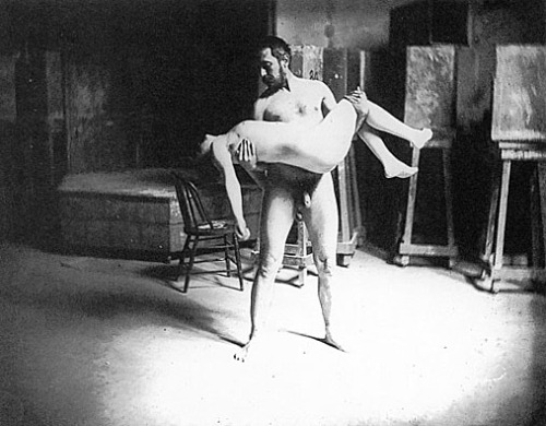 Carrying a Woman- Thomas Eakins (1885)