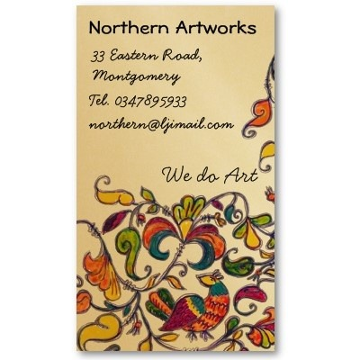 Northern Folk Birds Profile Business Card by #linandara