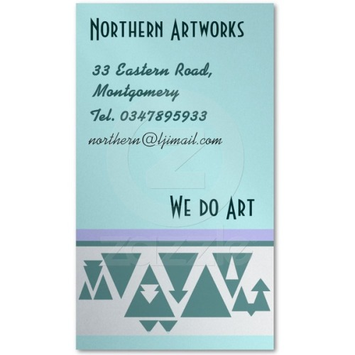 Northern Triangles Profile Business Card by #linandara
