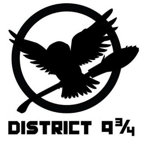 redcallmeapple:  caldickie:  District 9 and 3/4  I don't know why, but I really like Hunger Games and Harry Potter mash-ups. There was a brilliant one with Katniss in the tube and a Luna quote, but this is pretty awsm too!
