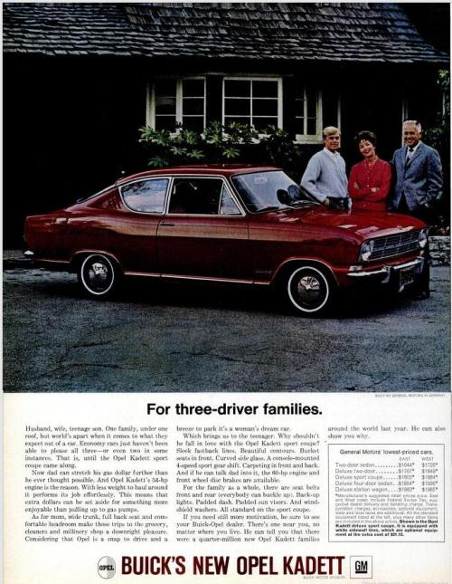 1966 Opel Kadett Vintage Cars Advertising