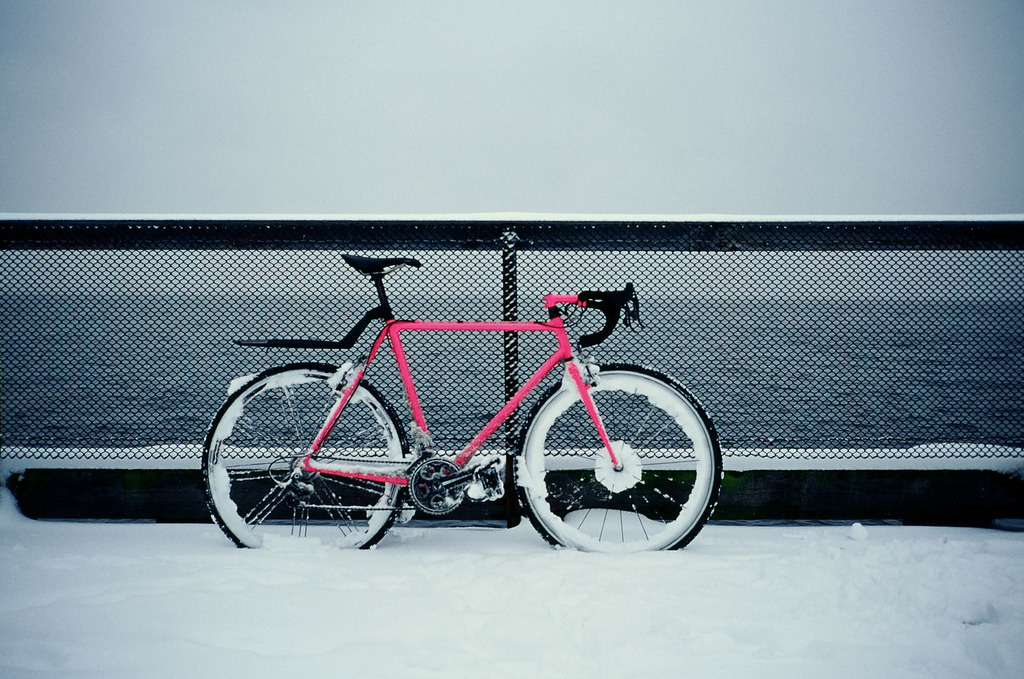 I think pink is a great color for a bike. Nicely done, sir!