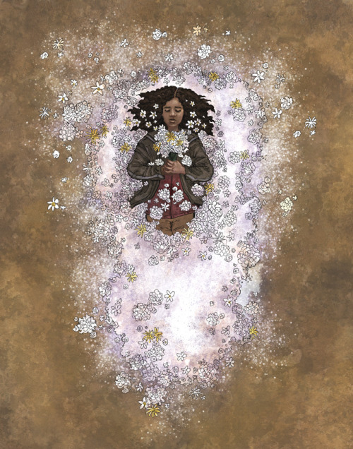 painted-wren:  Rue's Farewell. Hunger Games fanart finished…
