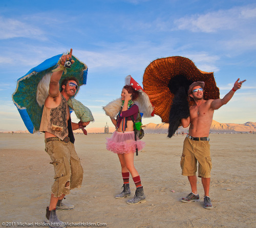 Mushroom People at Burning Man 2010 by Michael Holden on Flickr. Photos of People 3 times a day click