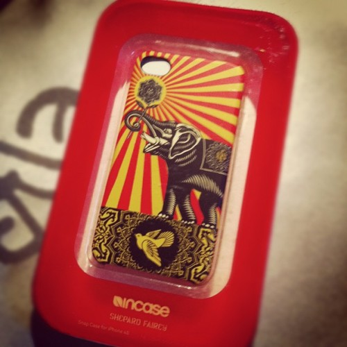 #incase #shepardfairey #obey (Taken with instagram)