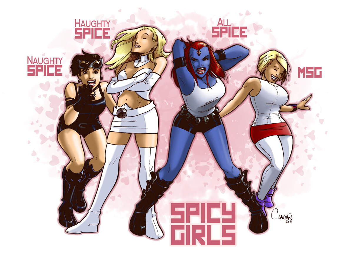 alicebathory:  thehappysorceress:  Spicy Girls by Caanan Grall   This is ridiculous….ly awesome. Love it. XD