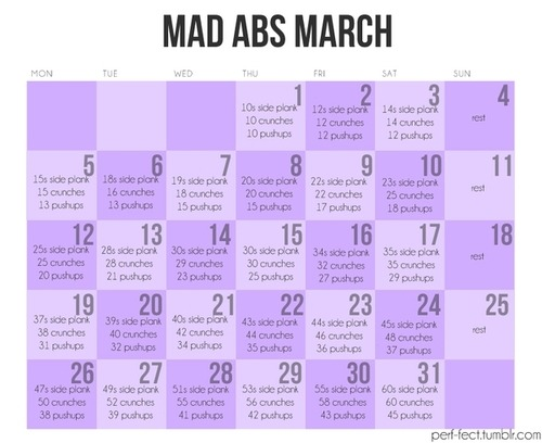 foreveronthehips:  No, it's not March, but you should do it anyway for April.