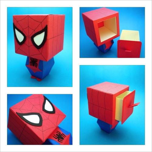 Spider-Man Inspired Gift Box Display http://scissorsandclay.etsy.com