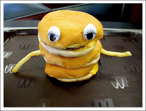 Eye See You Hamburger by BlueisCoool on Flickr.