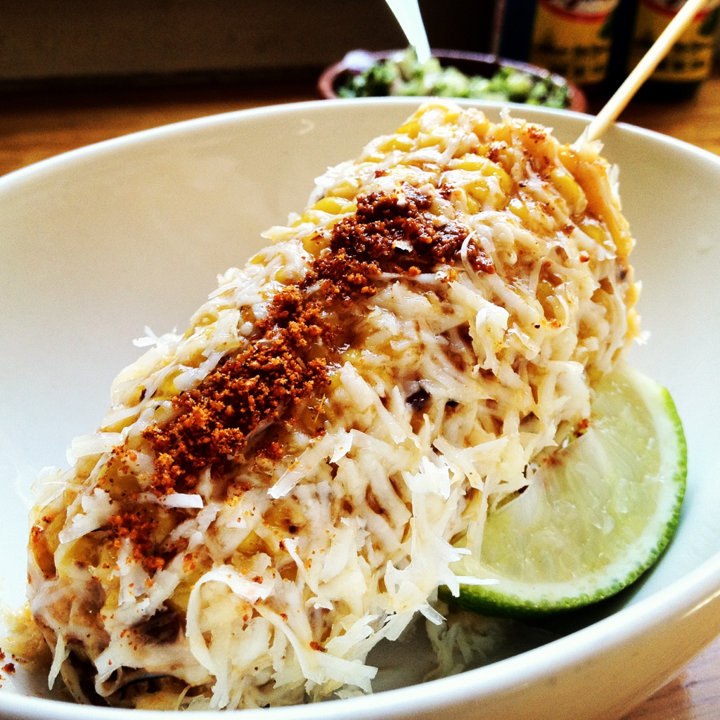 Oh how I love corn! @ Mamasita