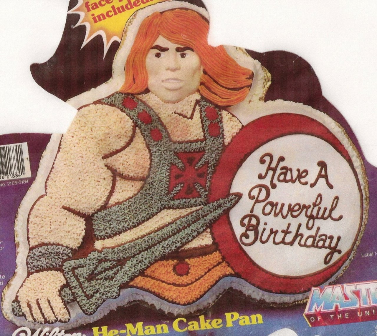 vintage wilton he-man cake pan. oh the memories… check it out here and don't forget to visit kitschnkitchens.com!
