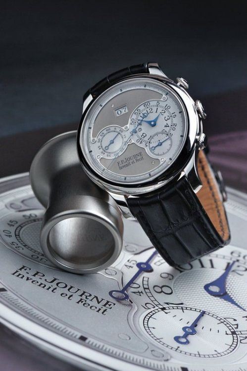 "thewatchspotter:  ""Invenit et Fecit""     Today will be a special day so why not…… The F.P. Journe Octa Chronograph made in Platinum and extremely rare at 99 pieces."