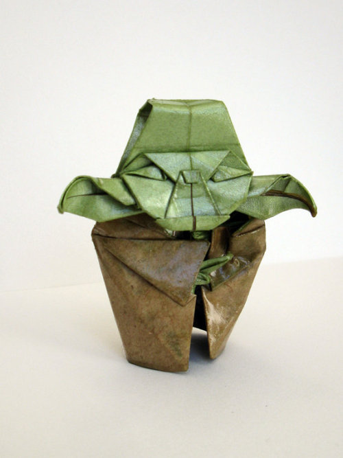 Origami Yoda Sculpture by Catamation