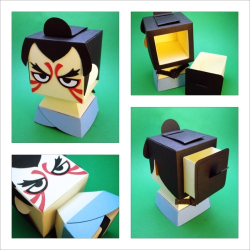 Street Fighter Inspired - E. Honda Gift Box Display http://scissorsandclay.etsy.com