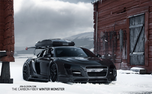 carpr0n:  Night's watch Starring: Jon Olsson's Audi R8 (via autoblog.it)  badass!