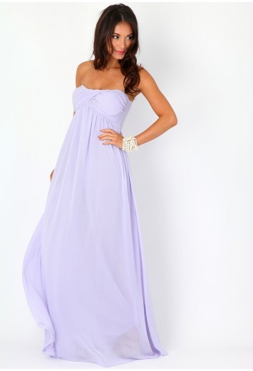 Lilac maxi dress from Missguided