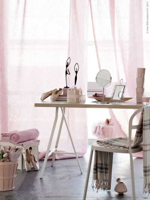 cute pink accessories at Ikea