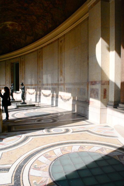 Encircling the Petit Palais garden, this corridor lavished in aureate garlands of vernal bloom simultaneously haunts and inspires.