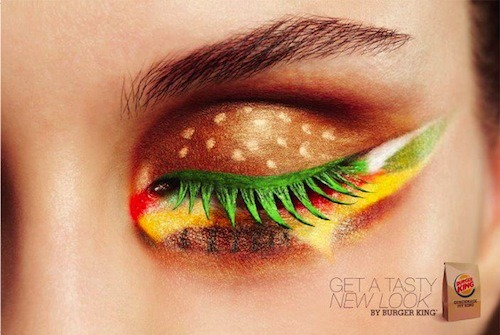 Get a Tasty New Look, Hamburger Eyeshadow, Burger King Ad
