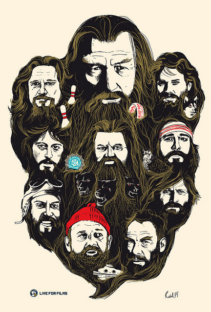 Best beards in film. illustration by Chris Thornley :: via flickr.com